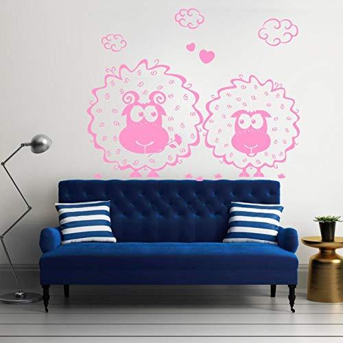 hetingyue Abnehmbare Kleine Schafe Nette Wandaufkleber Dekoration Zubehör Kinder Baby Schlafzimmer Poster Vinyl Aufkleber