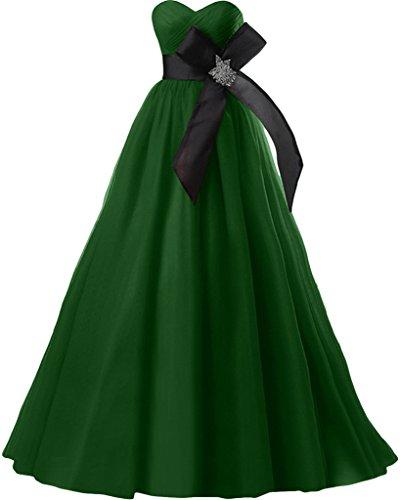 Gorgeous Bride Fashion Herz-Ausschnitt Empire Satin Tuell Abendkleider Cocktailkleid Ballkleider Grün