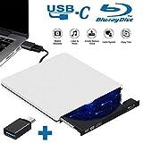 Tokenhigh Lettore Masterizzatore Blu Ray Dvd CD Externo 3D USB 3.0 Portatile Dvd/CD Rom Lettore Disco Rewriter Burner per Laptop/Desktop, Mac/OS/XP/Win7/Win8