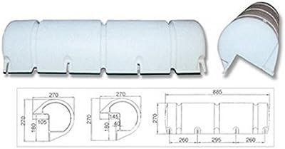 Trem Embarcadero-Protección Hinchable PVC Blanco L mm: 885 H mm, 270 mm W: 270 Color Negro