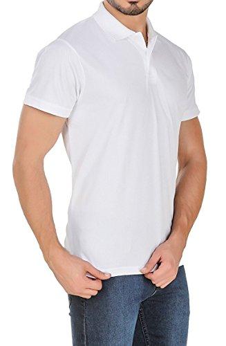 Lotto Men's Plain Regular Fit T-Shirt (CR910282-001_White_Medium)