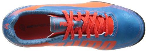 Puma evoSPEED 5.2 TT Jr, Chaussures de football mixte enfant Bleu - Blu (Blau (sharks blue-fluro peach-fluro yellow 04)