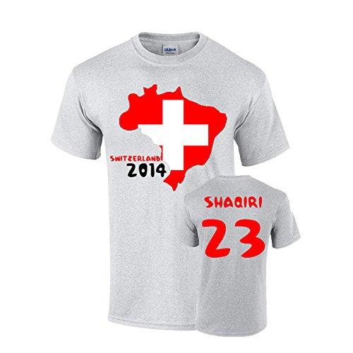 UKSoccershop Switzerland 2014 Country Flag T-Shirt (shaqiri 23) UKSoccershop