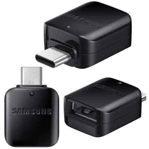 Echter schwarzer GH98-41288 A Samsung Galaxy Typ C männlich HOST zu USB Stecker OTG Adapter S8 S8 + A3 A5 Note 7 (Bulk verpackt) (Samsung Tablet, Usb Adapter)