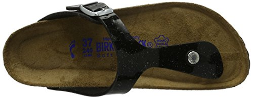 Birkenstock Gizeh Leder Softfootbed, Tongs mixte adulte Magic Galaxy Black