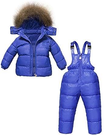 ZOEREA unisex tuta da sci per bambino piumino bambino invernale giacca bambina snowsuit snowboard piumino leggero sci giacche completo da neve per bambino 2 pezzi