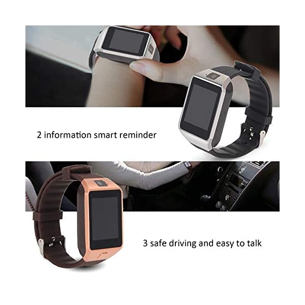 Funnyrunstore Smart Watch Dz09 Gold Silver Smartwatch Relojes para iOS para Android Sim Card Camera Camera Watch 3