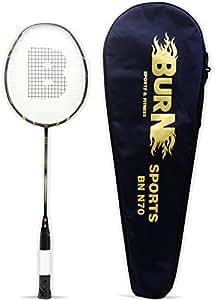 Burn BN70 Badminton Racquet, Standard (Matt Black)