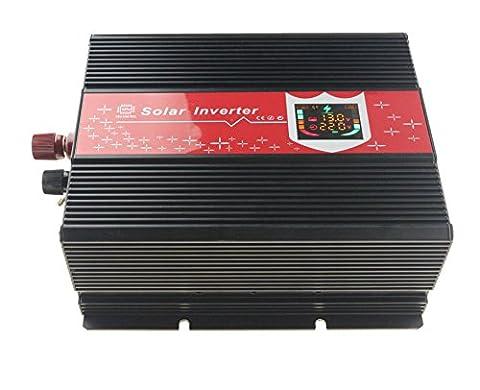chaomin Convertisseur onde sinusoïdale modifiée Onduleur 3000 W 6000 W crête DC 12 V à AC 230 V pour panneau solaire Processeur contrôlée Planche affichage numérique LCD