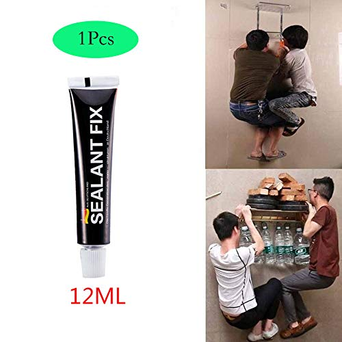 ToDIDAF 1Pcs Glass Glue Polymer, Metal Adhesive Sealant, Fix Waterproof Quick Drying Glue, for Glass Marble Wood, Non-toxic (12g) - Super Scraper