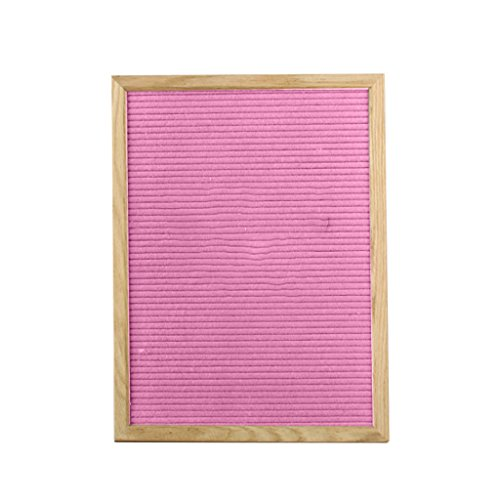 12 Zoll Holz-buchstaben (Baoblaze Filz Letterboard 46x31.5x2cm ,DIY Buchstabe Board - Rosa)