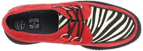 Tuk - Mondo Lo Creeper, Sneakers, unisex Rosso (Rouge (Red/Zebra Print))