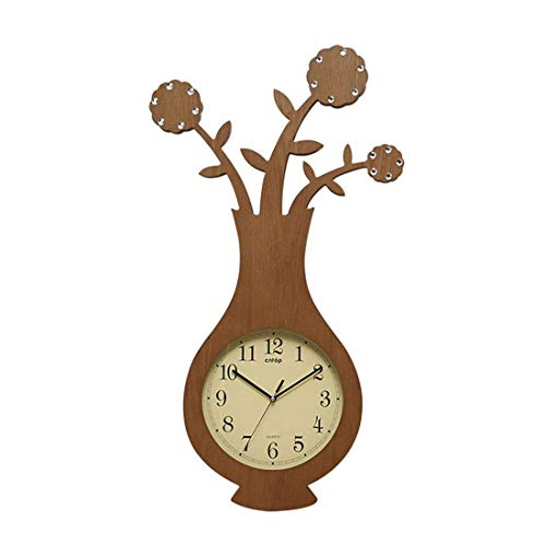GYNMR Kreative Uhr Continental Moderne Kreative Einfache Persönlichkeit Vase Wanduhr Stille Dekoration Geschenke Studie Schlafzimmer Wohnzimmer Kinderzimmer Restaurant Polaris Vasen