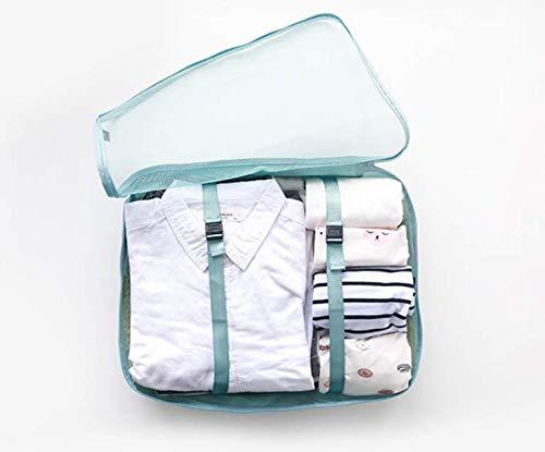 KLDDGF Reiseaufbewahrungstasche Sortiertasche Gepäck in der Kleidung Verpackungstasche Reiseaufbewahrungstasche für Reisekleidung Blau Groß