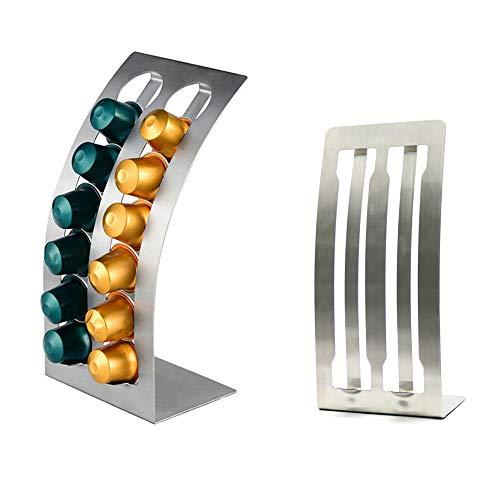 1 soporte para cápsulas de café en forma de L para almacenamiento de 12 cápsulas Nespresso