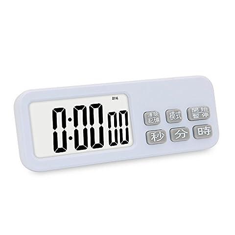 LXh.Cn Les minuteurs de cuisine sont étudiants Rappel Minuteur chronomètre alarme réveil électronique créative muet,blanc