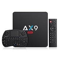 [Android 7.1/2GB/16GB EMMC] TICTID AX9 Max Android 7.1 4K TV Box 2.4G WIFI Amlogic Quad Core A53 Processor Smart TV Box with Mini Keyboard