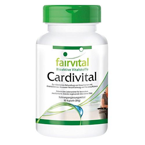 Cardivital, Herzvitamine, Multivitamin, ohne Vitamin K, vegetarisch - mit Vitaminen, Mineralien, Aminosäuren, OPC, Q10, 90 Kapseln - unterstützt die normale Funktion des Herzens und der Blutgefäße