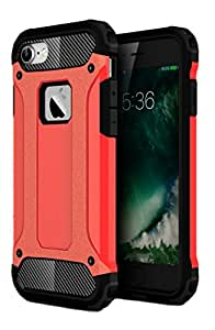 Golden Sand Tough Armor Dual Layer Hybrid Shockproof Back Cover Case for iPhone 7 ,Apple iPhone 7 (Frost Orange)