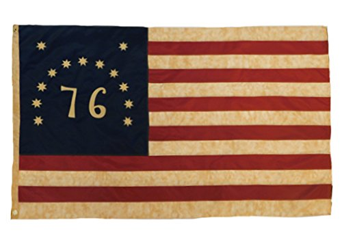 Founding Fathers Flags 76Bennington Vintage Flagge 3x 5'Nylon Bestickt-Gründerväter Flaggen -