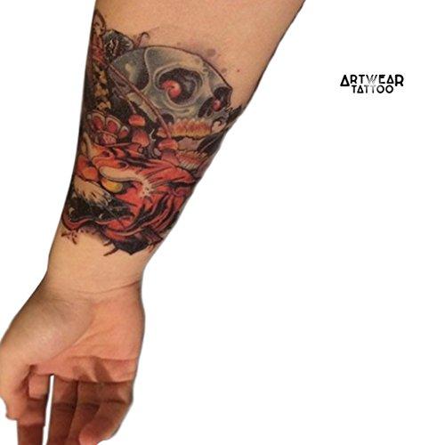 Tatuaggio temporaneo realistico di artista