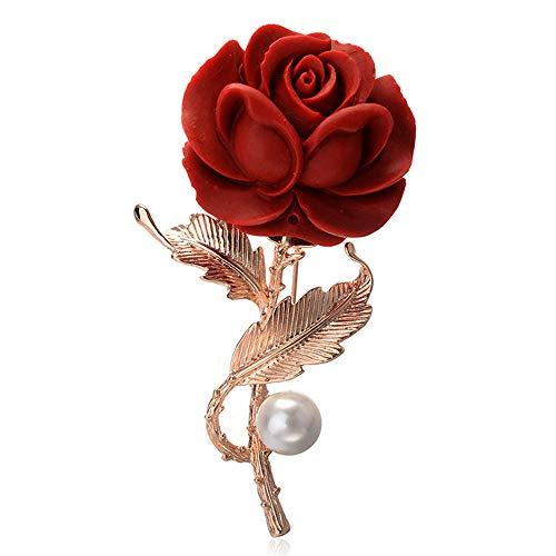 Peggy Gu schmuck Frauen Mädchen Perle Brosche Pfau Federn Form Clip Pin für Cocktail Party Hochzeit Bouquet kostüm - Accessoire