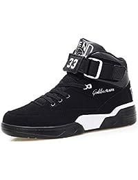 FZUU Zapatillas Hombre Moda Top High Street Zapatos de Calle Deportes  Casual Zapatos 6ee96abeab4