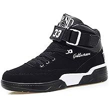 FZUU Zapatillas Hombre Moda Top High Street Zapatos de Calle Deportes  Casual Zapatos 1b2a2f5a135