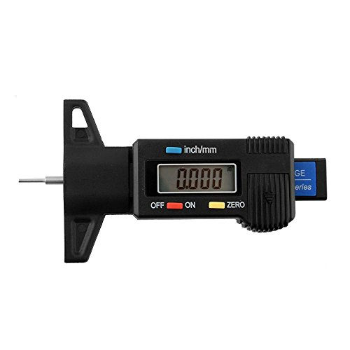 QEES Digital Reifen Profil Tiefenmesser Messschieber Profilmesser LCD-Anzeige LT01