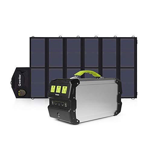 Electz 360 Wh / 97200 Mah Tragbar Solargenerator Wechselrichter Kraftwerk Camping Notstromversorgung Mit DC/AC Wechselrichter, Aufgeladen Von Solarpanel/Steckdose Zum Camping, Notfallsicherung -