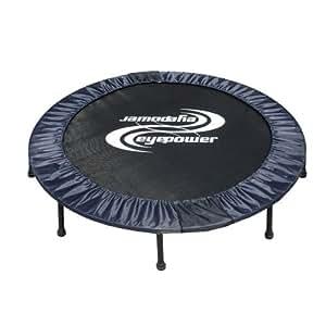 11987 Trampolin faltbar ca. 140cm Durchmesser Ø Belastbarkeit ca. 150 kg, 8 stabile Füße + Sicherheitspolster rundherum