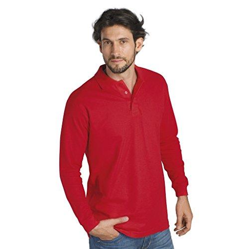 SOLS - Polo Manica Lunga 100% Cotone - Uomo Nero