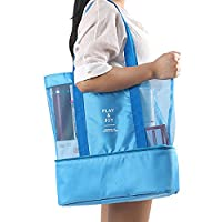 THEE Multifunction Picnic Camping Bag Handbag Lunch Box Tote Double Layer