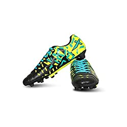 Vector X Acura Football Shoes (Size-6) (Black-Green)