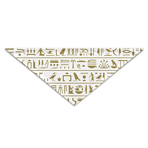 (OUYouDeFangA Halstuch, antike ikonische ägyptische Hieroglyphen Hunde Geburtstag Halstuch, waschbar, für Welpen, Katzen, Dreieck, Lätzchen Zubehör für kleine Haustiere – tolle Geschenkidee)
