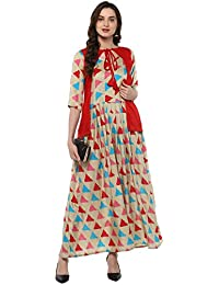 Roadstar India Long Length Anarkali Cotton Kurtis For Womens/girls(kurtis For Womens New Style/kurtas For Womens...