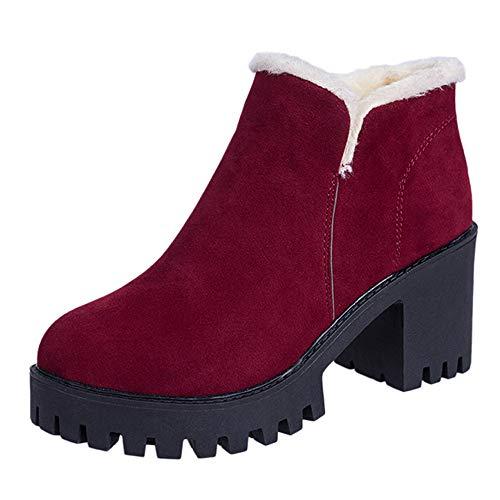 MYMYG Damen Ankle Boots Chelsea Boots Vintage Frauen -