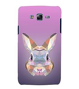 Rabbit 3D View 3D Hard Polycarbonate Designer Back Case Cover for Samsung Galaxy J5 (2015) :: Samsung Galaxy J5 J500F (Old Version)