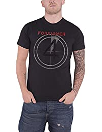 Foreigner T Shirt Distressed 4 Album Cover offiziell Herren Nue Charcoal Grau