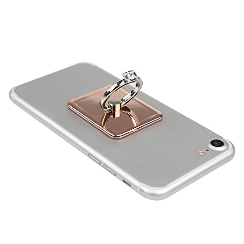 Asnlove Ring Holder Supporto, Asnlove Elegante Brillante Anello in Metal Ring Grip con 360 Rotazione di 360 Gradi Proteccion Case Cover per Smartphone Cellulari iPhone 5/6/6 plus,Samsung Galaxy S4/S5/ color-13
