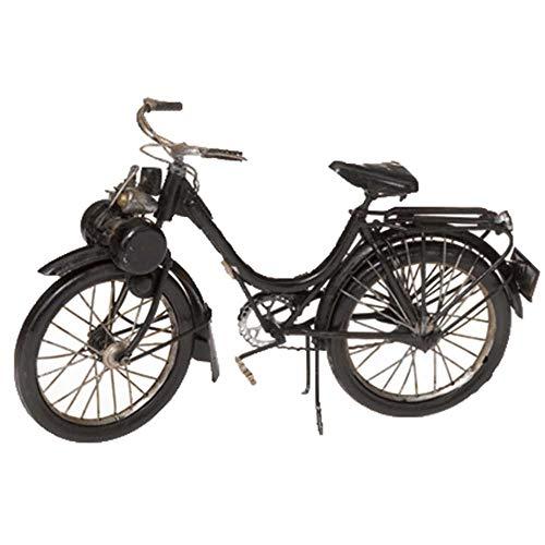 Pamer-Toys Modelo Bicicleta de Chapa - Antique Vintage Retro Style - Tamaño Aprox. 26 x 9 x 19 cm (Bicicleta con Motor II, Negro)