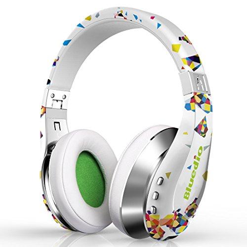 Bluedio a (air) cuffie bluetooth alla moda auricolari wireless con microfono/ hd diaphragm/ twistable headband/ 3d surround sound (bianco)