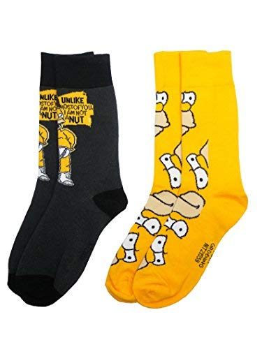 -Homer Herren Socken (Größe 6-11, 2Stück) ()