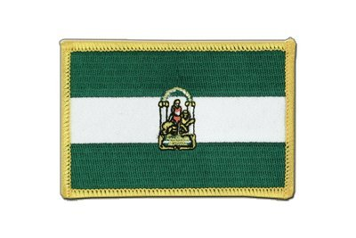 Spanien Andalusien Aufnäher, andalusische Flagge 6x8cm, MaxFlags®