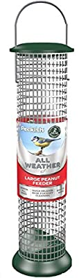 Peckish Large Metal All Weather Nyger Seed Bird Feeder