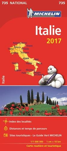 Carte Italie Michelin 2017