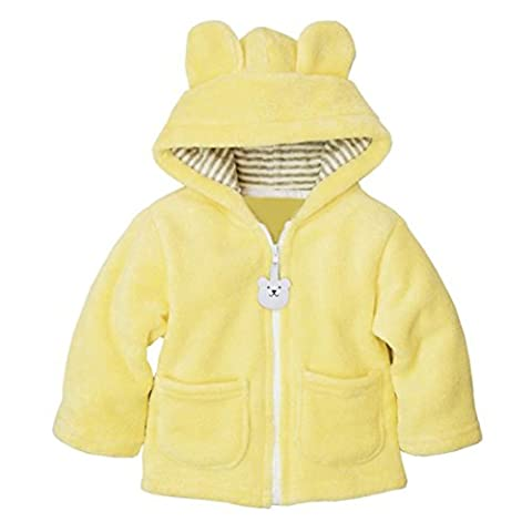 Koly® Baby Boy Girl Newborn Hoodies Coat Thick Tops Children Carter Style Outerwear for 0-24 Months