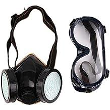 Nuevo Filtro de Protección Doble Máscara de Gas Químico Gas Anti Polvo Pintura Respirador Mascarilla con