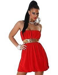 Jela London Damen Bandeau-Kleid mit Pailletten verziert Einheitsgröße (34-38)