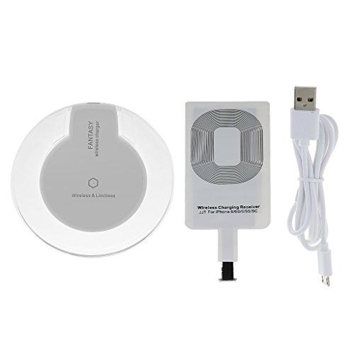 Cargador Inalámbrico Pad de Carga + Receptor de Carga para iPhone 5 5s 6 6s
